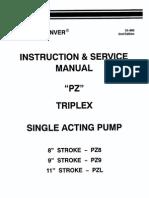 Instrucciones y Manual de Servicio PZ 8, 9 y L