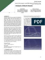 FEM Analysis of BAJA Chassis