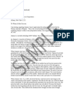 DepOver Samfsfple Dependency Override Letter