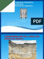 Contaminacion de Suelo en Cerro de Pasco