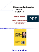 CHE411 Fall 2010-Chemical Reaction Engineeirng-Ahmed a Abdala