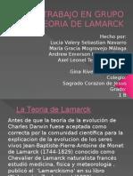 Teoria de Lamarck- Historia