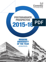 Coventry.uk Postgraduate Prospectus 2015 16