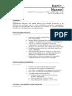 Jobswire.com Resume of MartinJMaxwell