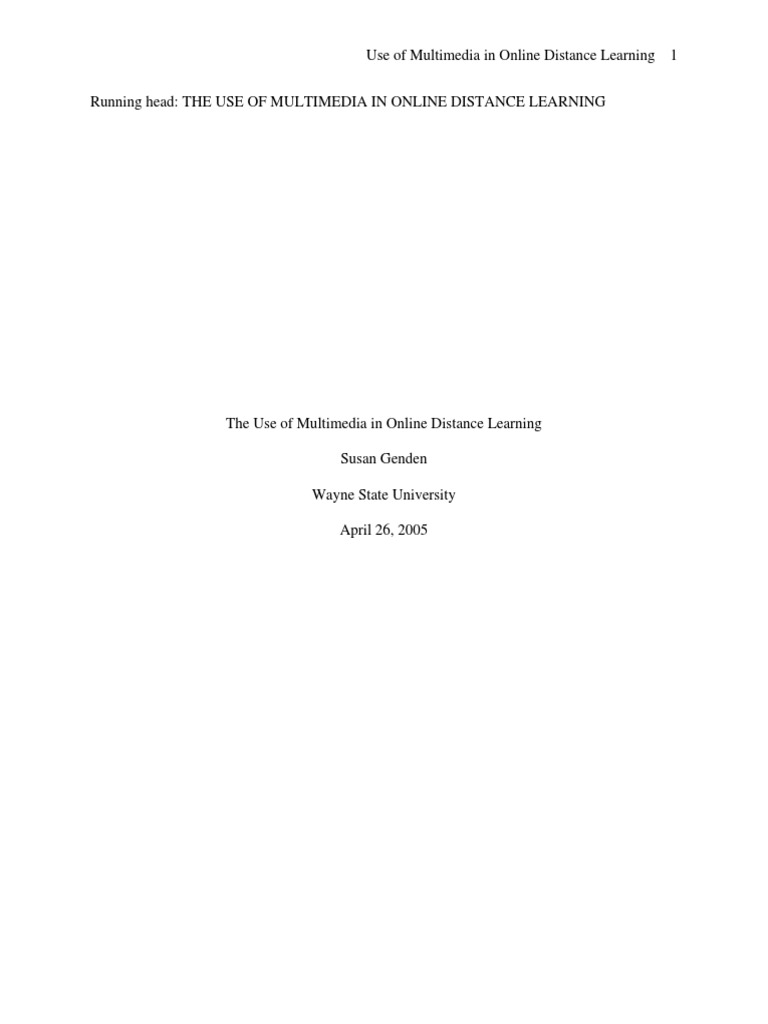 Dissertation distance learning 1990 onward