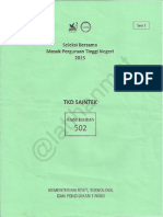 SBMPTN 2015 TKD SAINTEK Kode 502 - Latihanmat Blog