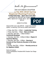 BIG Regional Meeting Hosted by San Diego Chapter