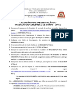 Cronograma TCC 2015-1