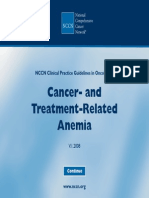 Anemia Related Cancer Guideline