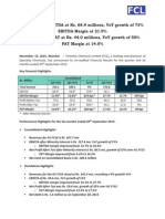 Results Press Release [Company Update]