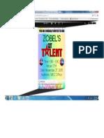 zobel got talent poster