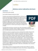 143 - ConJur - Eficiência Econômica Como Indicativo de Bom Direito