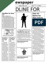 Newspaper Template Elaborate.doc