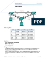 Lab - Configuring EtherChannel Cisco