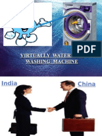 export & import procedure of innovative virtually waterless washing machine