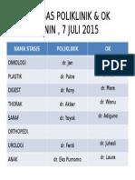 Petugas Poliklinik & Ok 7 Juli 2015