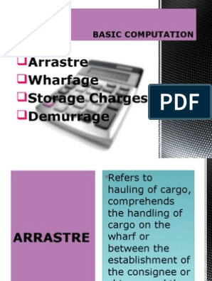 Basic Computation | Cargo | Wharf