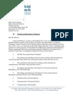 FOIA Request to Virginia State Bar - Judicial Watch 3-30-2015