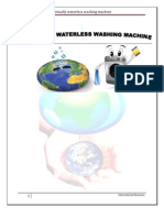 export and import procedure of innovative virtually waterless washing machine.