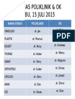 Petugas Poliklinik & Ok 15 Juli 2015