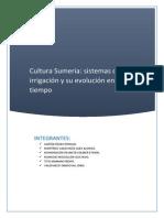 Irrigación de La Cultura Sumeria