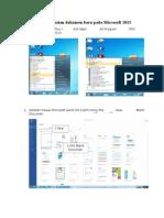 Cara Pembuatan Dokumen Baru Pada Microsoft 2013