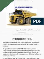 Curso Capacitacion Camion Minero 777d Caterpillar Tecnicas Operacion