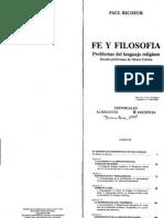 Fe y Filosofia - Ricoeur