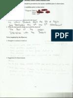 teacher feedback form reading