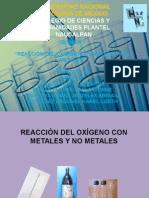 REACCIÓN DEL OXÍGENO CON METALES Y NO METALES