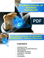 Alliance School of Business Bangalore