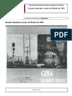 Horario Grandes Lineas de Renfe de 1961