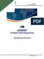 ASSENT Prequalification Document