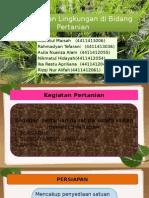 pencemaran lingkungan pertanian