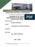 Informe de Laboratorio Circuitos I CIRCUITOS SEGUNDO ORDEN