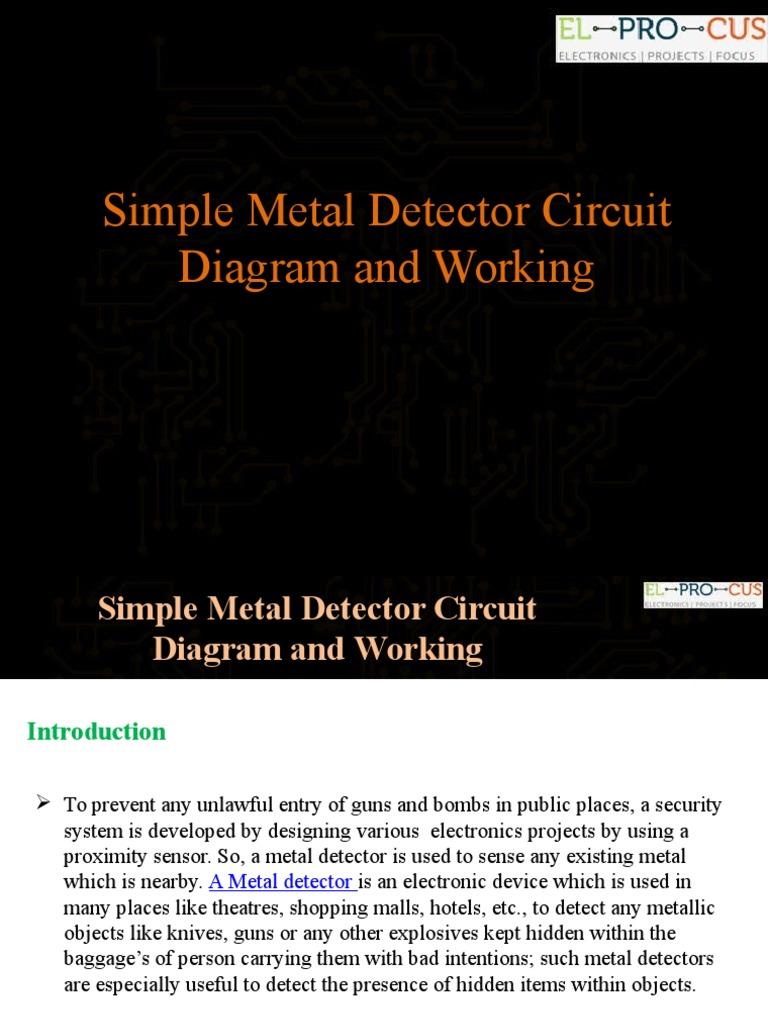 Simple Metal Detector Circuit Diagram And Working Radio Diy