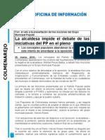 Colmenarejo Nota de Prensa Pleno 25-03-2010