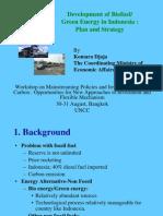 Komara Indonesia Development of Biofuel