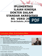 Implementasi Penilaian Kinerja Dokter Dalam Standar Akreditasi Rs Versi 2012