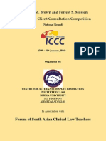 Details of the Louis M. Brown and Forrest S. Mosten International Client Consultation Competition (National Round)