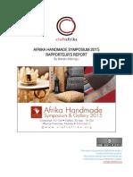 Afrika Handmade '15 Symposium Report
