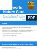 Présentation Pro Sports Nature Gard