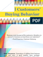 Retail Cusstomers' Buying Behavior