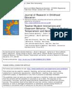 McClowry Et Al 2013 Cluster Article
