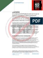 La Defensora del Pueblo Europeo apoya el carácter secreto de las negociaciones del TTIP