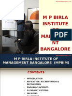 M P Birla Institute of Management Bangalore|MBA