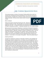 Tips and Tools - Coding Qualitative Data