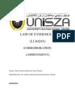 Evidence Law -Corroboration