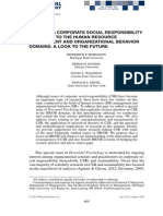 Extendinf Corporate Social Responsability Research to the Human Resource Management and Organizational Behavior Domains a Look to the Future