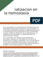Automatizacion en La Hemostasia